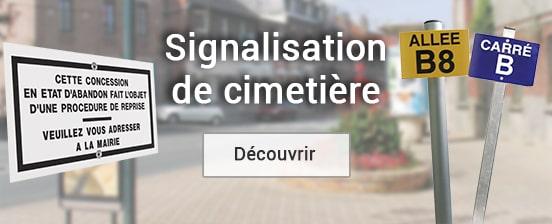 signalisation de cimetière