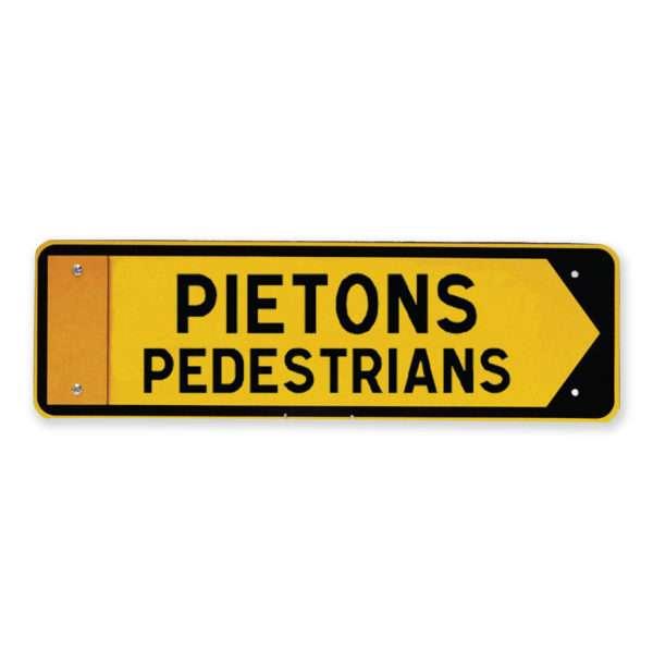 Panneau piétons pedestrians Silkolor