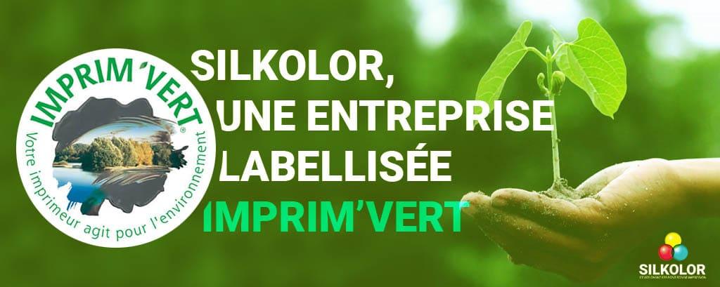 Silkolor obtient une labellisation écologique : le label Imprim'Vert